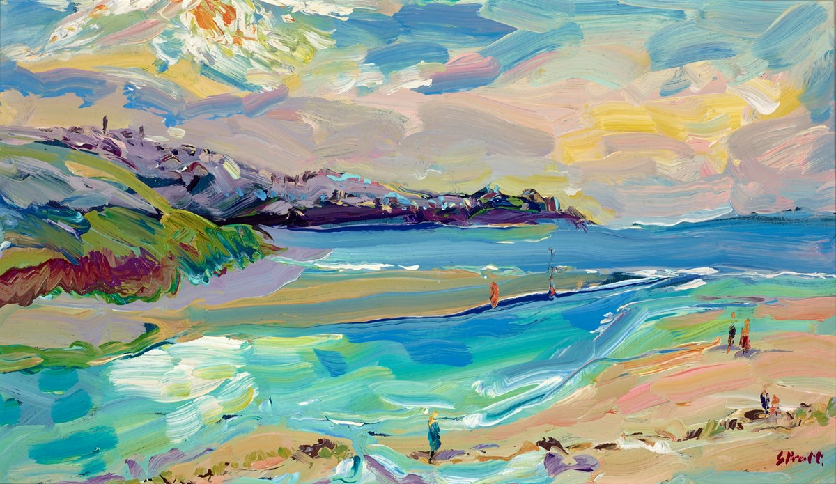 Looking Towards St Ives from Hayle by jeffrey pratt -  sized 21x12 inches. Available from Whitewall Galleries